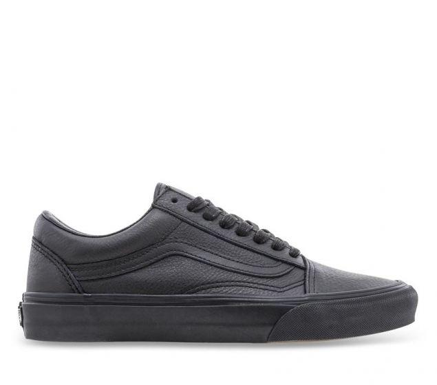 black leather vans